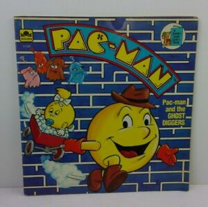 1983 Pac-Man and the Ghost Diggers book Golden w/maze sc