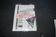 Behringer MX 1604A Bedienungsanleitung / Manual