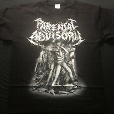 OLD PARENTAL ADVISORY T SHIRT 2010 XL SUPPORT CANNIBALISM AUSTRIAN DEATH METAL