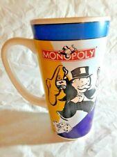 "MONOPOLY Hasbro 6"" COFFEE DRINKING MUG CUP COLLECTIBLE 1999 Vintage"
