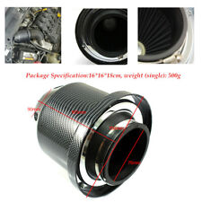 Carbon Fiber Plastic Universal 3 inch Car SUV High Flow Cold Air Intake Filter