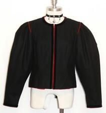 "BLACK WOOL VELVET JACKET Short Women German Evening Dirndl Dress Suit 8 S B39"""