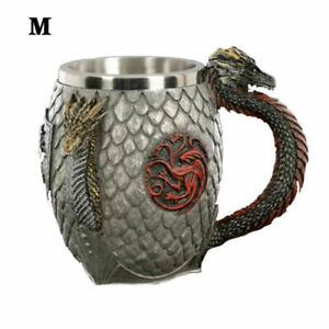 Game of Throne Drinking Mugs Creative 3D Carving Beer Cup Red Wine Glasses UK
