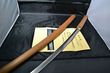 Japanese Samurai real sword Katana sharp Shirasaya Sukeshige antique NBTHK paper