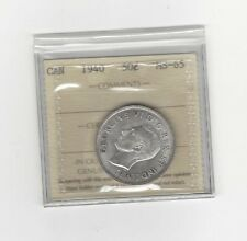 **1940**, ICCS Graded Canadian 50 Cent, **MS-65**
