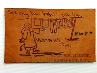 Vintage Leather Postcard See my Lines Before you Buy Warwick NY S.G. Bradley