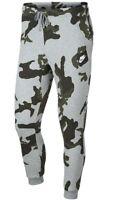 Men's New Nike Camo Tracksuit Jogging Bottoms Joggers Sweat Pants - Grey