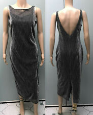 M&S vintage 90s silver sparkle party dress size 10 12