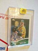2017 Topps Archives Signature Series Sonny Gray TRUE 1/1 AUTO 2014 Future is Now