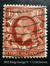 1912-13 King George V Three Half pence penny Brown