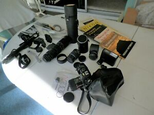 VNTG MIXED LOT OF CAMERA,LENS AND RELATED CAMERA ACESSORIES
