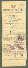 Storia postale ITALIA LUOGOTENENZA. Lecce, 18.01.1944.  Modulo delle Poste x...