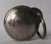 British Half Crown Screw Lid Coin Key Fob Snuff Box / Pill Box / Keepsake