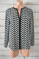 Zara Basic Top Popover Tunic Shirt Blouse Size Small Black White Long Sleeve