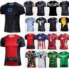 Herren SUPERHELD Kurzarm T-shirt Sports Casual Radsport Fitness Sports Shirt Top