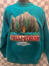 Vintage Field & Stream Outdoor Apparel Made in Usa Sweat Shirt Men's Size L