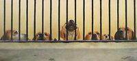 "JOHN SILVER ""Jailhouse Rock"" hounds dogs SIGNED LTD ED! SIZE:37cm x 79cm NEW"
