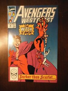 AVENGERS WEST COAST #56 MARCH 1990 NM NEAR MINT 9.6 SCARLET WITCH WANDA VISION