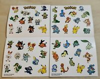 52pc Pokemon Sticker Set 2021 McDonalds 25th Anniversary Promo 2 Sheets Pikachu