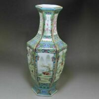 Chinese old porcelain Enamel Hexagonal Zodiac Vase