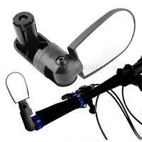 180° Black Mini Rotate Flexible Bike Bicycle Cycling Rearview Handlebar Mirror
