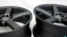"""20"""" Matte Graphite Mustang Downforce DF5 Wheels 20x8.5 20x10 5x114.3 05+"""