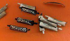 10x Schuco Examico Akustico Schriftzug Nummernschild f Blechspielzeug Auto (a20)