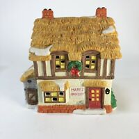 "1994 Noma Int. Christmas village Mary's Grocery  6.5"" x 6.5"" x 4"""