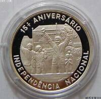 ST. THOMAS & PRINCE 1000 Dobras 1990 Silver Proof 15th Independence