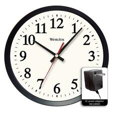 Round Electric Office Wall Clock, Large numbers /White dial with black hands