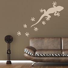 Wandtattoo Gecko Gekko & Spuren Aufkleber Wall Art Wand Tattoo #2023