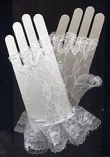Music Legs 428 Fingerless Wrist Gloves Lace Victorian Garden Party Bridal White