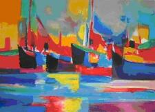 "Marcel Mouly    ""Chalutiers au Port IV""      MAKE  OFFER   #DDSBA"