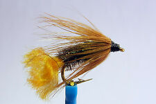 1x Mouche de peche Noyee Orange Tag H12 truite wet fly trout fishing mosca