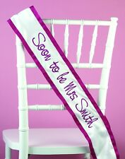 Personalized Custom Made Baby Shower, Wedding Party, Bridal Party Satin Sash