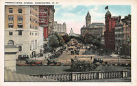 Pennsylvania Avenue, Washington, D.C., Early Postcard, Unused