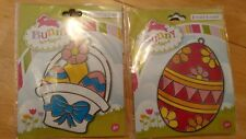 2 Makit Bakit Easter ORNAMENT Stained glass Suncatchers Crafts HTF