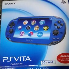 PlayStation PS Vita 3G/Wi-Fi model PCH-1100 AB04 Sapphire Blue Japan F/S game
