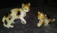 Vintage Ucagco ceramic cat kitten figurines lot 2 Japan                       16