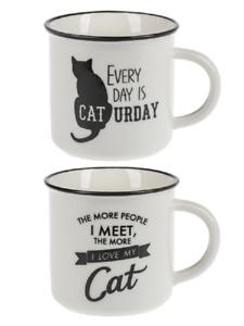 Ganz E8 Kitchen Dining B&W Pet Lover 14oz 4in Stoneware Mug Cat EM55114 Choose