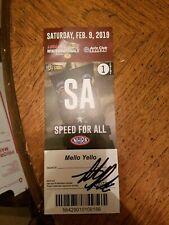 2019 autograph NHRA Pomona AAA ticket Austin Prock