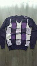 Cipo&Baxx Pullover Gr.S guter Zustand lila geometrisch V-Ausschnitt