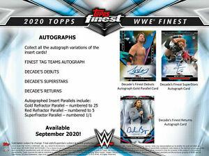 VELVETEEN DREAM 2020 TOPPS WWE FINEST WRESTLING 1/2 CASE 4 BOX WRESTLER BREAK 31