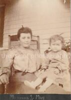 MOTHER + DAUGHTER Found PHOTOGRAPH bw FREE SHIPPING Original PORTRAIT 83 12