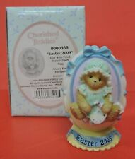 Dated 2005 Cherished Teddies Girl Paint Easter Egg Figurine 0000368-Abbey Press