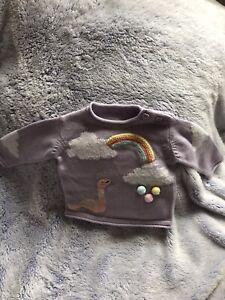 new baby clothes unisex Warm Jumper Size 0 - 3 Months