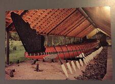Matawhaorua Maori NGA toki War Canoe Bay of Islands New Zealand Postcard