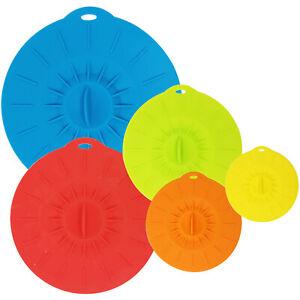 Reusable Silicone Suction Bowl Lids, Food Storage Covers for Bowls, Pots, Pans