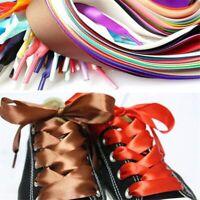 1pair 2cm Flat Silk Ribbon Shoelaces Nylon Shoe Laces Sneaker Sport Shoes Lace