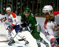 Ron Francis, Chris Chelios Hartford Whalers Montreal Canadiens 8x10 Photo